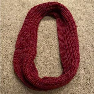 Dark Red Infinity Scarf